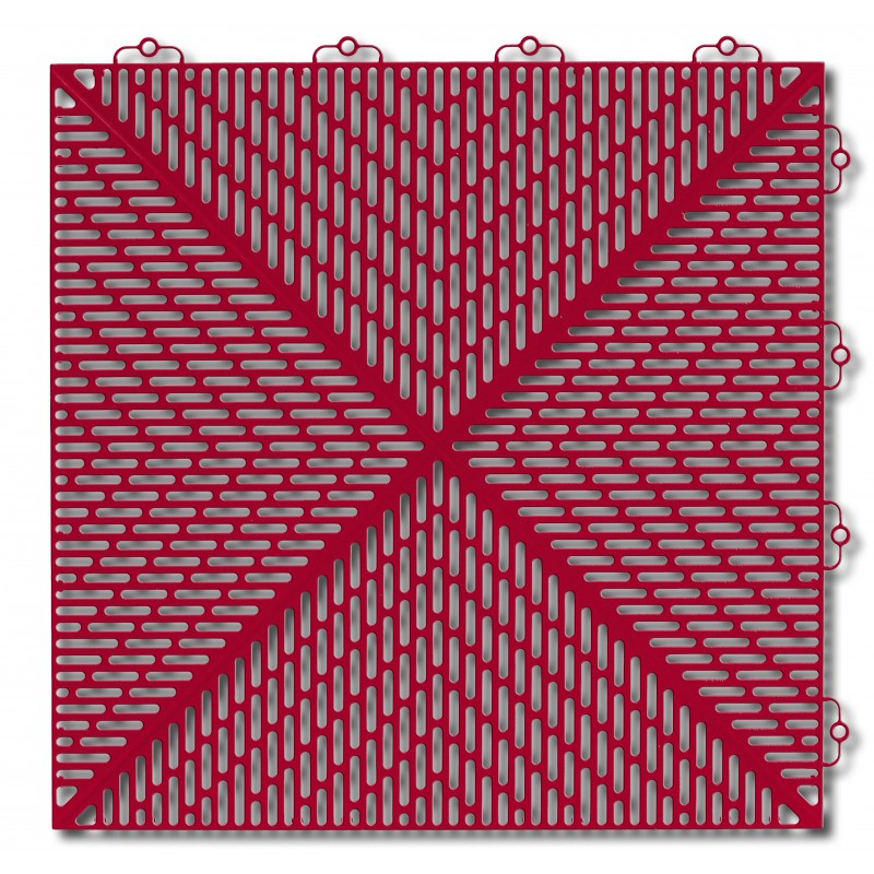 Płytki garażowe Bergo Unique czerwone