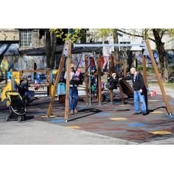 Bezpieczne Gumowe Płytki na plac zabaw
