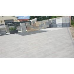 Płytka bezklejowa podłogowe PCV FORTELOCK BLACK Invisible 2030 czarna skóra