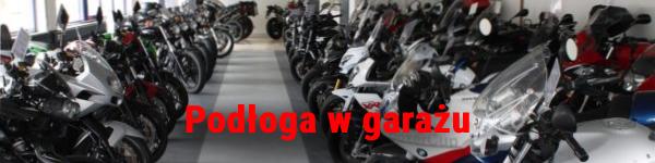 podłoga w garażu motocyklowym